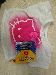 Build a Bear Hello Kitty pink white stencil shirt