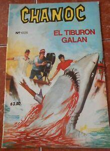 1979 CHANOC comic JAWS movie parody SHARK ATTACK SEA underwater ART SCUBA DIVING