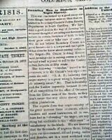 Rare PRO CONFEDERATE Columbus Ohio w/ Slavery & Lincoln Civil War 1862 Newspaper
