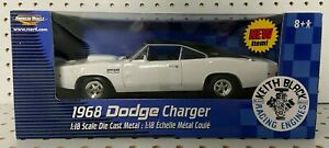 ERTL American Muscle 1:18 1968 Keith Black Dodge Charger White Diecast Car 36987