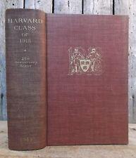 Harvard Class of 1918 ~ 25th Anniversary Report ~ 1943