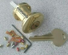 Rekeyable Commercial Lock Cylinder 6 Pin Russwin Keyway With Spool Serrated Pins