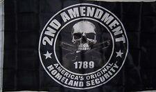 NEW 3x5ft SKULL 2ND AMENDMENT AMERICA'S HOMELAND SECURITY FLAG