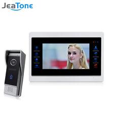 """4 Wired 720P/AHD 7"""" Video Door Phone Intercom with 1 Monitor & 1 DoorBell Door"""