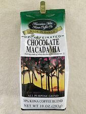 DECAF Hawaiian Isles Kona Coffee Co. Chocolate Macadamia Nut Caffeine Free NEW