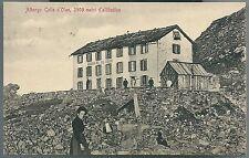1911ca ALBERGO COLLE D'OLEN cartolina Alagna Valsesia Monte Rosa