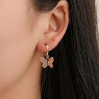 Fashion Women Alloy Butterfly Drop Dangle Pendant Earrings Charms Jewelry Gif MW