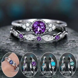 Women Engagement Rings Band Ring Rhinestone Finger Ring Party Jewelry Wedding