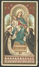 Estampa antigua dela Virgen Rosario andachtsbild santino holy card santini