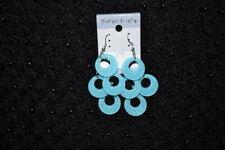 Unbranded Hook Turquoise Plastic Costume Earrings