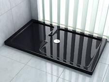 150 x 90 x 5 cm Duschtasse in Schwarz Duschwanne Dusche Brausewanne Acrylwanne