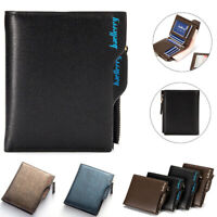 Men's Bifold PU Leather Wallet Coin Purse ID Credit Card Holder Short Money Clip