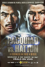Original Vintage Manny Pacquiao vs. Rickey Hatton Spanish Boxing Fight Poster