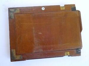 Watson Premier Tailboard Camera - Mahogany & Brass - Half Plate Holder