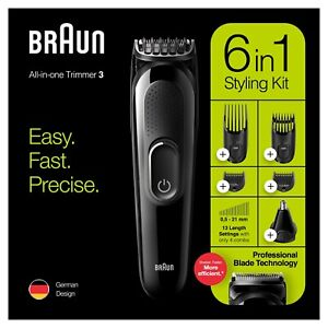 Braun 6-in-1 MGK3220 Hair Clippers Beard Trimmer Body Grooming Kit