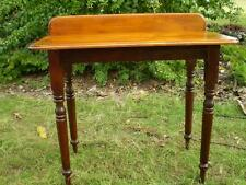 Solid  Cedar frame turned legs Timber Wash Stand baltic pine top & splash back