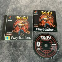 T'ai Fu Wrath Of The Tiger PS1 PlayStation 1 PAL Game Complete Black Label Rare