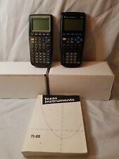Texas Instruments Ti-89 and Ti- 83 Calculators For Parts Or Repair plus manual