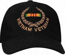 Vietnam Veteran Cap In Black - Deluxe Low Profile Baseball Hat