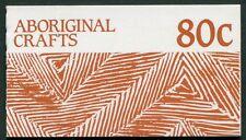 ABORIGINAL CRAFTS 1987 - 80c VENDING MACHINE FOLDER STAMPS - MINT