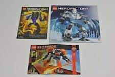 Lego Hero Factory ExoForce Instruction Manuals 7708 6230 6283