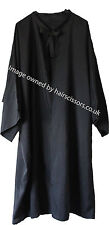 Hairdressing Gown Cape With Sleeves Tie Neck BLACK. Polyester. Code Dolly