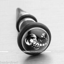 18G Scorpion Stainless Steel Fake Taper Cheater Stretcher Plug Earrings Ear Stud