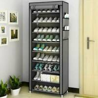 27 PAIRS 9 TIER DUSTPROOF SHOES CABINET STORAGE ORGANISER SHOE RACK STAND HOLDS