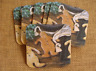 Set of 6 Cork Backed Legacy Coasters - Christmas, Gingerbread Cutout Cookies