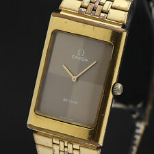 OMEGA Watch DE VILLE Rectangular   Hand Winding 18K Gold Plated    T2006