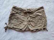 UNIONBAY Mini Shorts Girls 10 M Tan Brown Pockets Drawstring Waist Adjustable