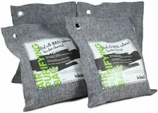 Kioki Bamboo Activated Charcoal Air Purifying Bag (Pack of 4)Odor Eliminator