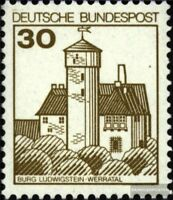 BRD (BR.Deutschland) 914A I R mit Zählnummer postfrisch 1977 Burgen und Schlösse