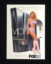 "PAM ANDERSON'S  ""VIP""  PROMOTIONAL POSTCARD FOR HER 2001 TV SHOW"
