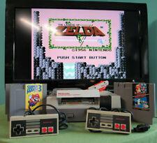 NES System Console Bundle Games Duck Hunt Gun Super Mario Bros Zelda Nintendo