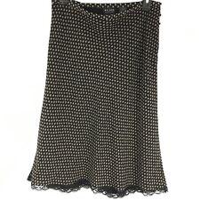 Access Women Skirt Button Detail A Line Floral Print Lace Trim Size 8