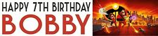 Personalised The Incredibles Birthday Banners Option 2 -  Buy 2 get 1 free
