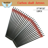 "12Pcs 17""20""22"" Bolts Carbon shaft Arrows  crossbow Archery shooting Dead Strike"