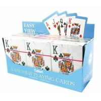 Tallon Games Easy View Playing Cards - Plastic Coated Fun Card Standard Size