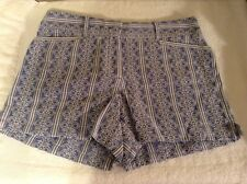 "Ann Taylor LOFT Blue & White Shorts. ""Riviera"" Style. Size 8. NEW."
