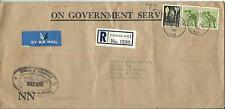 On Government Service Ministry of Information envelope Registered Cover to UK