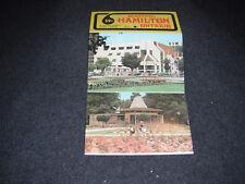 1970's Souvenir Postcard Folder Hanger Hamilton Ontario Canada Set #2