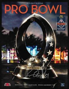 Kassim Osgood Signed 2010 NFL Pro Bowl Football Game Program Chargers Autograph