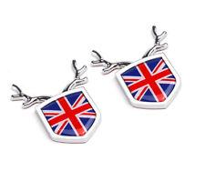 2 England UK Britain ABS Chrom Trunk Emblem Badge Decals Sticker For Jaguar Mini