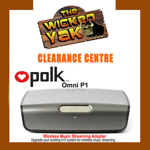 POLK AUDIO Wireless Music Streaming System Optical/Coaxial Outputs OMNI P1