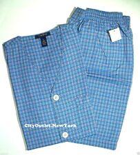 CLUB ROOM Sleepwear Men's Sz S Pajamas Set Woven Short-sleeves Short Pants NWT