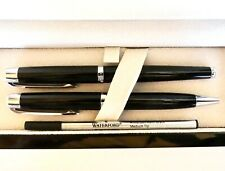MARQUIS WATERFORD WRITING INSTRUMENTS METRO BLACK ROLLER BALLPOINT PEN SET