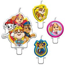 4 Set Paw Patrol Birthday Candles Kids Party Cake Chase Rubble Marshall Skye Pup