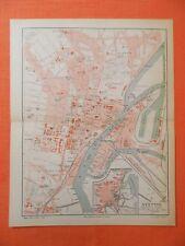 STETTIN Pommern Stadtplan v.1897 City Map Grabow Galgwiese Szczecin