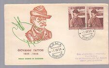 ITALIA BUSTA DITTA ROA VIAGGIATA 1958 COPPIA GIOVANNI FATTORI ANNULLO ROMA FDC